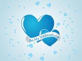 空青いバレンタイン カード — ストックベクタ