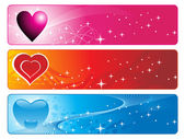 Abstract three colorful design banner — Stock Vector