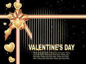 Beautiful design valentine card — Vector de stock