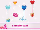 Beautiful heart-shape gift — Stock Vector