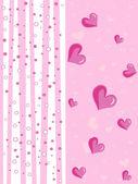 Vectorillustratie valentine kaart — Stockvector