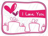 Zábavný design láska karet — Stock vektor