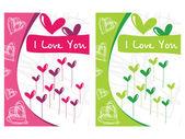 Beautiful design pair of heart — Stock Vector