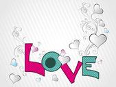 Virvel design med kärlek bakgrund — Stockvektor