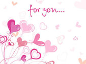 Tarjeta de san valentín sólo por amor — Vector de stock