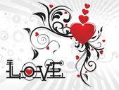 Vektor illustration för alla hjärtans dag — Stockvektor