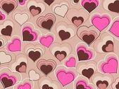 Färgglada valentine kort illustration — Stockvektor