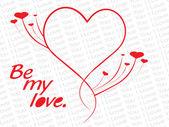 Simple love design cards illustration — Stock Vector
