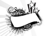 New year 2009 banner, design3 — Stock Vector