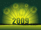 New year 2009 greeting pattern, design5 — Stockvektor