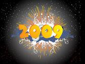 Bandiera del nuovo anno 2009, design22 — Vettoriale Stock