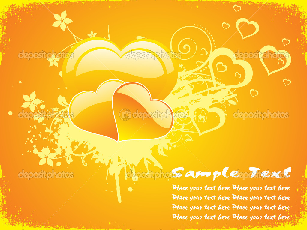 Yellow love background — Stock Vector © alliesinteract ...