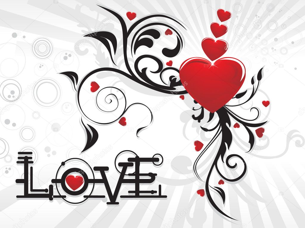 Vector romantic background for valentine day  Imagen vectorial #2917715