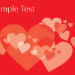 Royalty-Free Stock Vectorielle: Many funky hearts on background