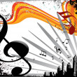Musical composition disco series — Stock Vector