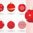 Stock Vector: Collection of christmas ball