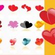 Vector set of heart — Stock Vector