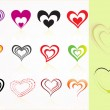 Stock Vector: Vector set of heart