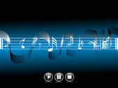 Musical composition disco — Stock Vector
