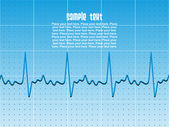 Heart beat background — Stock Vector