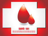 Vector image of blood drops — Stock Vector