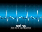 Latido del corazón con el fondo — Vector de stock