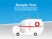 Medical ambulance background — Stock Vector