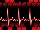 Heart beat with background — Stock Vector