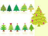 Collection of Christmas trees — Stock Vector