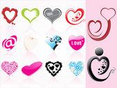 Illustration of romantic heart — Stock Vector