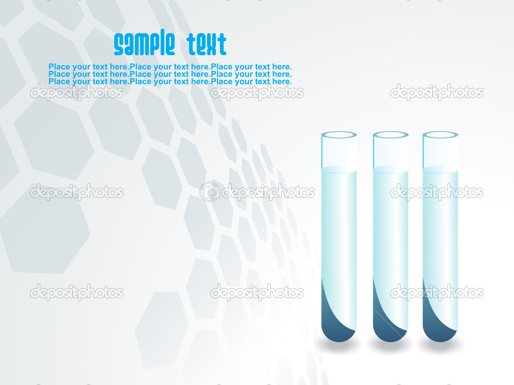  laboratory background with test tube  Stock Vector #2931180