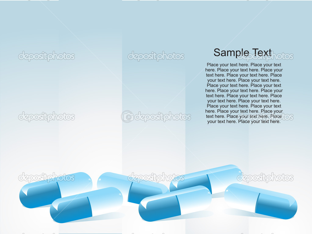 Medical capsule isolated on blue, vector illustration — Stock Vector #2932437