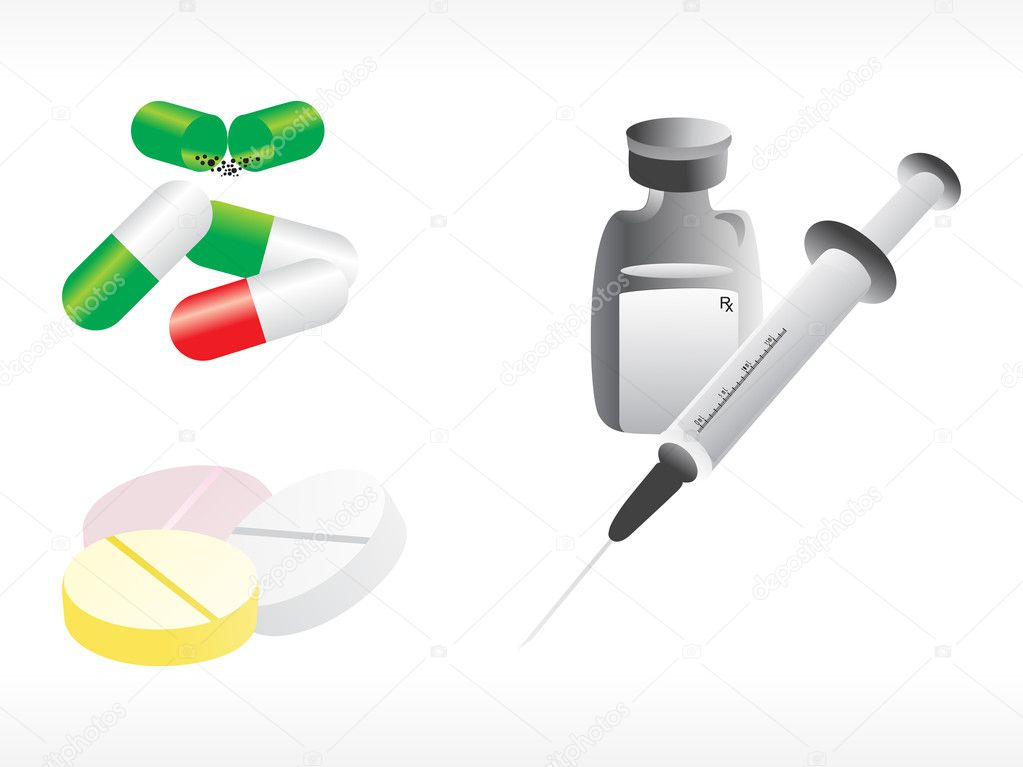 Medical supplies on white background  Stock Vector #2932843
