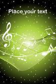 Vector musical notes wave — Stock Vector