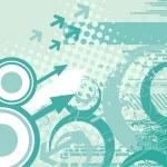 Grungy futuristic background — Stock Vector