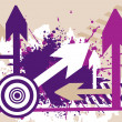 Grungy background with arrows — Stock Vector