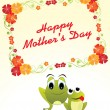 Mother day card illustration — Stockvectorbeeld