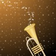 Royalty-Free Stock Vector Image: Background with notes, instrument