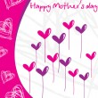 Stock Vector: Artistic pattern mother day card