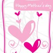 Abstract design mother day background — Stock Vector