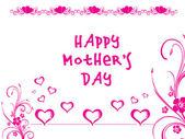 Romantická láska karta pro matku — Stock vektor