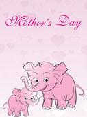 Abstract begrip voor mother day — Stockvector