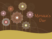 Mother day background with flower — Stock Vector