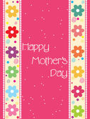 Pretty mother day card — Stock Vector