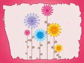 Colorful flower illustration — Stock Vector