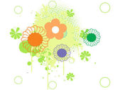 Grunge with flower illustration — Wektor stockowy