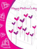 Artistic pattern mother day card — Stock Vector