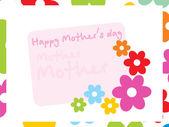 Lovely ornament flower on mother day — Stock Vector