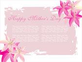Flower frame for mother day — Stock Vector