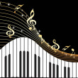 Music notes, piano — Vector de stock